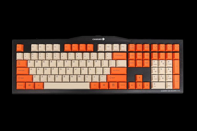 PBT Keycaps Cherry Profile Cream Orange Color for 87 104 108 3000 3800 3850 Mechanical Gaming