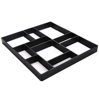 GHIXACTO Garden Pavement Mold DIY Plastic Path Maker Mold Manually Paving Cement Brick Molds Stone Road Concrete Molds Tool
