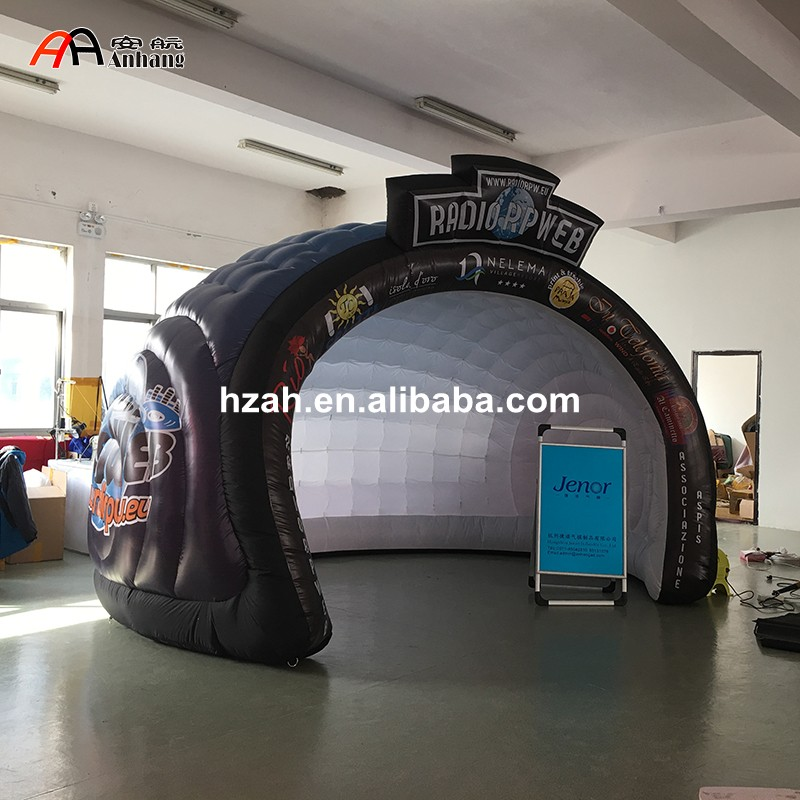 Customized Advertising Inflatable Dome Tent with Logo inflatable cube helium advertising balloon with 6 sides digital printing logo for advertisement