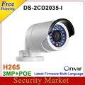 Original 4MP camera DS-2CD2035-I 12mm replace DS-2CD2032-I CCTV Bullet IPC camera DS-2CD2035-I 12mm