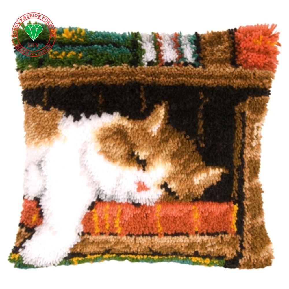 Hilado alfombra bordado DIY patchwork alfombra bordado puntada ...
