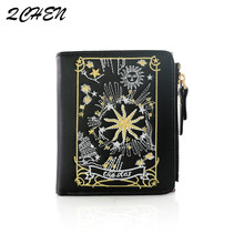 Women Wallets Female Short Coin Zipper Purse Credit Card Leather embroidery Luxury Brand Famous Purses 436