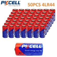 50 X батарейки PKCELL 6 V батареи 4LR44 L1325 A544 щелочная батарея Bateria Baterias