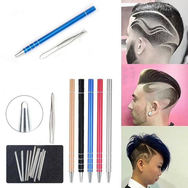 1set Hair Scissors Hairdressing Scissors Magic Engrave Beard Hair Shavings Eyebrows Carve Pen Shears Tattoo Barber Hair Trimmers
