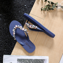 New Fashion Women Slippers Crystal Flip Flops Flat Shoes Spring/Summer Female Shoes Casual Lady Shoes Woman Footwear hot sale 2016 summer woman shoes rhinestone flat woman shoes fashion casual shoes wild concise female flip flops dt194