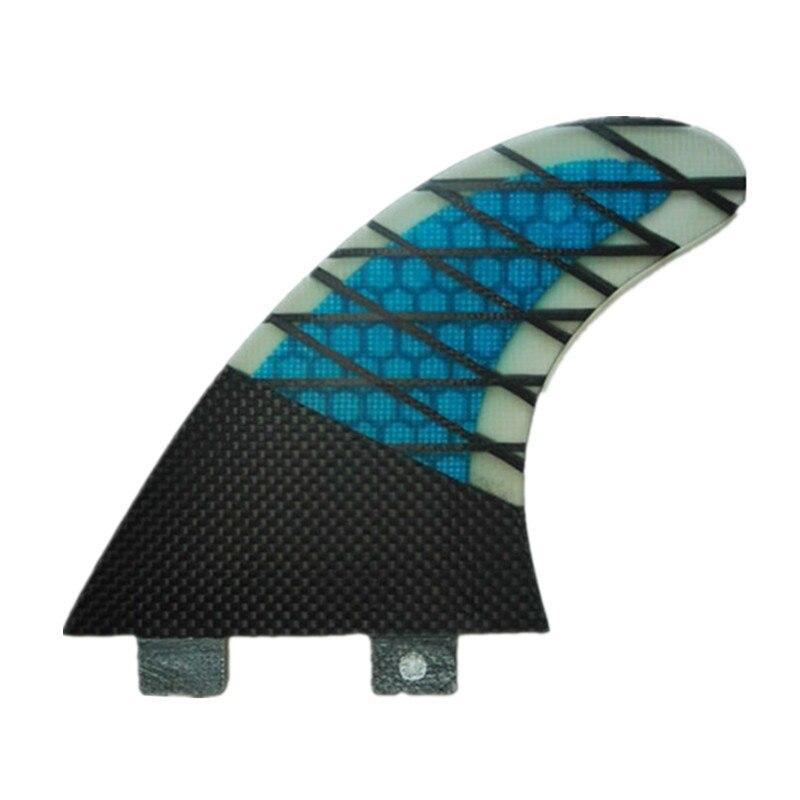 Nouvelle Conception de Nid D'abeille Grille En Fiber de Carbone Quilhas Propulseur Surf Ailettes Fcs Surf Planche De Surf Ailettes Pranchas 3 pcs/ensemble