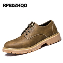 Waterproof Boots Men Leather Spring And Autumn Brown Shoes Work Casual High Top Comfort British Style Big Size 2017 Winter Tan