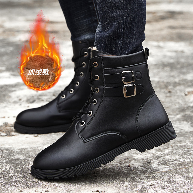 Thestron New Trend Working Safety Boots Military Combat Luxury Brand Pu Leather Trekking Shoes Men Winter