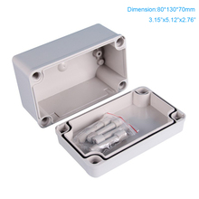 Outdoor Waterproof ABS Plastic Enclosure , Electric Box Junction 80*130*70mm Free Shipping