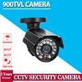 Видео CCTV Камеры Безопасности Открытый Пуля 900TVL 1/3 Цветной CMOS ИК-Фильтр 3.6 мм Объектив 24IR Светодиоды Водонепроницаемый Камеры
