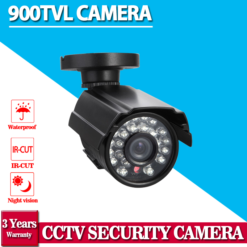 Video CCTV Security Camera Outdoor Bullet 900TVL 1/3 Color IR-CUT Filter CMOS 3.6mm Lens 24IR Leds Waterproof Camera free shipping 2015 newest 1 3 color cmos 600tvl outdoor indoor waterproof ir bullet camera cctv camera security camera