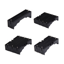 High Quality 18650 Battery Box Holder Batteries Case For 4X18650 in Parallel 3.7V Pole Black For Soldering 18650 Storage Box