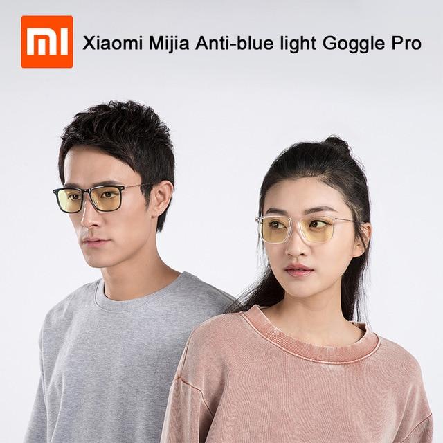 Eerlijkheid Nieuwste Xiaomi Mijia Anti-blauw Licht Goggle Pro Xiaomi Bril 50% Blauw Blokkeren Tarief Minimal Ontwerp Dubbelzijdig Olie Weerstand