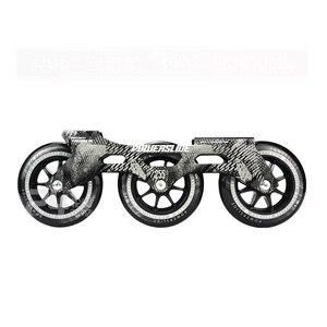 Image 3 - 100% מקורי Powerslide מהירות סקייט מסגרת 3*110mm 255mm עם 110mm Powerslide החלקה גלגלים עבור 165mm מרחק Patines בסיס