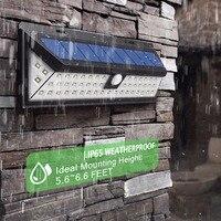 Waterproof 34 54 66 90 LED IP65 2835 SMD White Solar Power Light Outdoor Garden Light