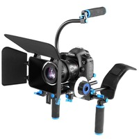 PULUZ YLG1102A B DSLR Rig Dual Handles Camera Shoulder Mount Kit with Matte Box & C Mount for DSLR Camera / Video Camera