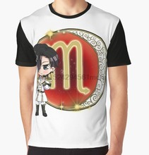 978300ae6 All Over Print T-Shirt Men Funy tshirt Chibi Scorpio Short Sleeve O-Neck  Graphic Tops Tee women t shirt