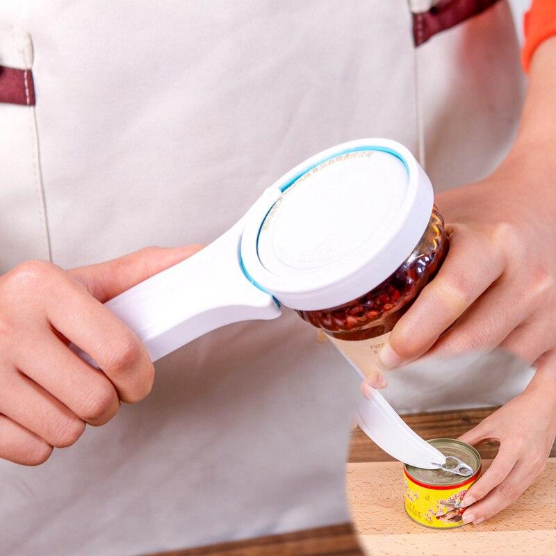 Can Opener Manual Non-slip Twist Cap Bottle Launcher Lid Screw Jam Kitchen Gadget Handy Anti-slip For Beer Jar Cooking Gadgets