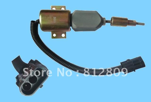 Fuel Shutdown Solenoid 3357411 2TO130764 FREE SHIPPING BY TNT,UPS,DHL Express 3924450 2001es 12 fuel shutdown solenoid valve for cummins hitachi