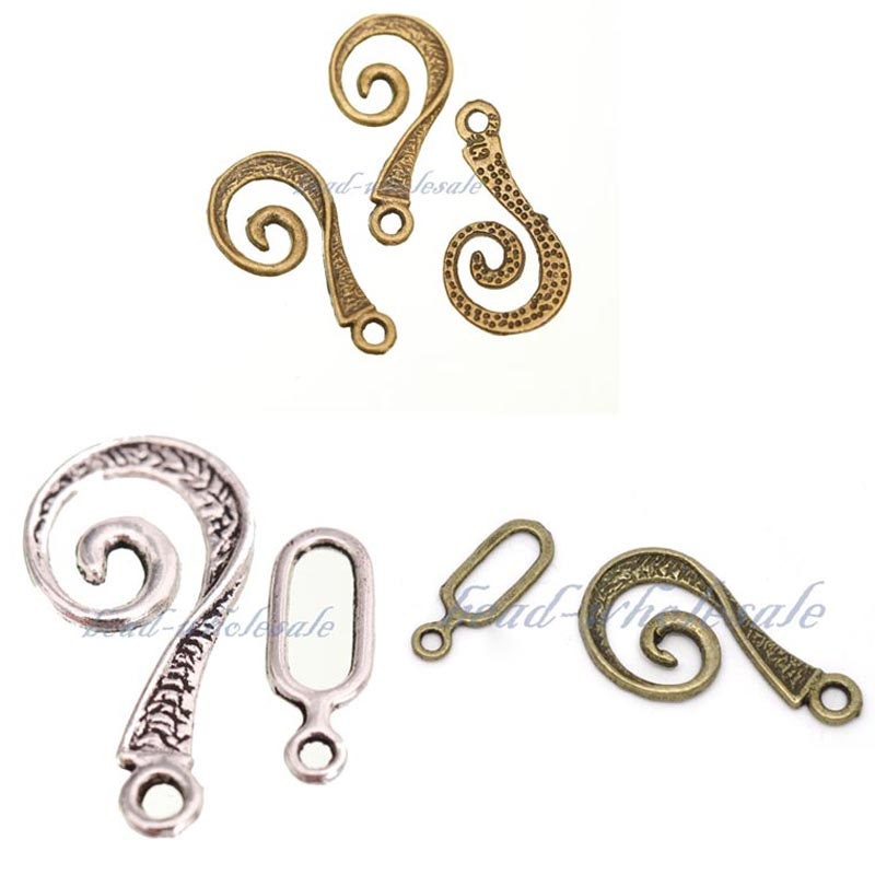25 sets of Antiqued Brass Toggle Clasps