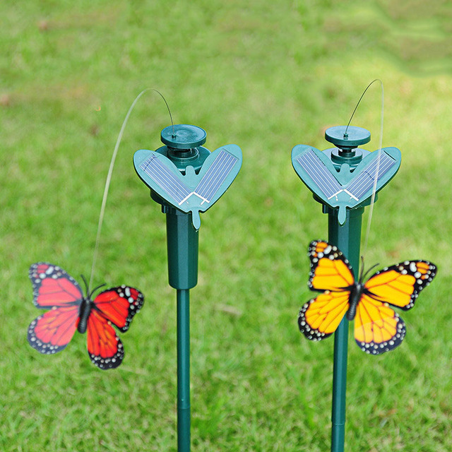 Peradix Vibration Solar Power Dancing Flying Butterflies Hummingbird Garden Decoration Solar Power Toys for kids