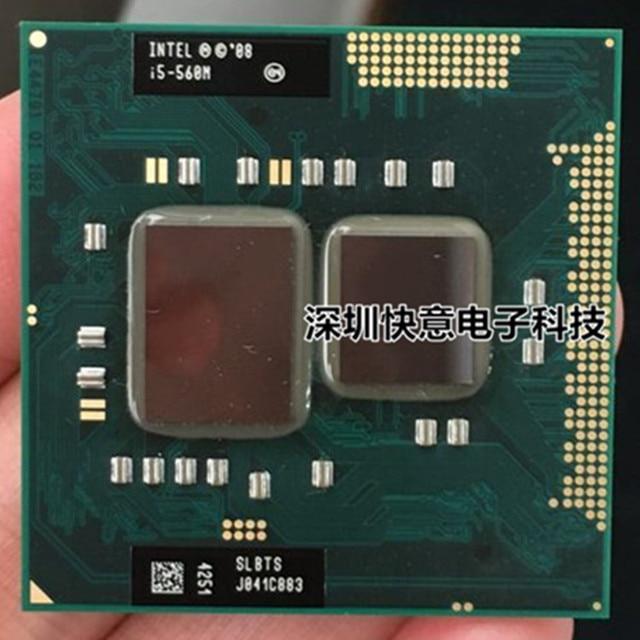 Lntel Dual Core i5 560M i5 560M 2.66GHz processeurs pour ordinateur portable CPU PGA 988 i5 560M le processeur fonctionne sur HM55 HM57