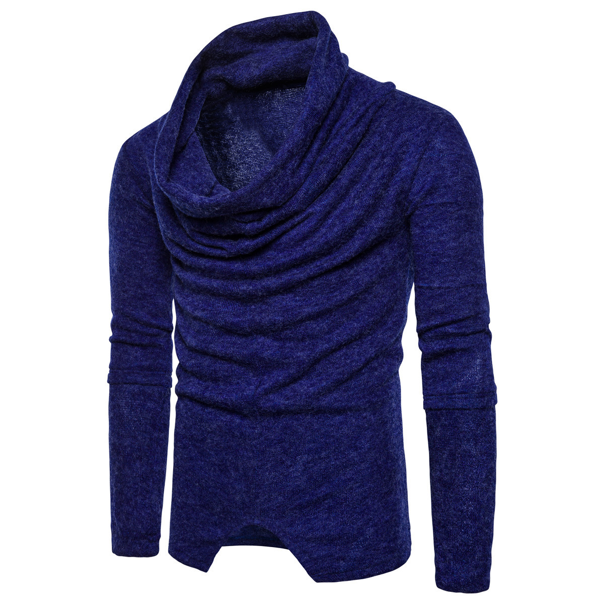 Sweater Man Pullovers Slim-Fit Knitted Men Turtleneck Fold-Neck Men's Casual Fashion