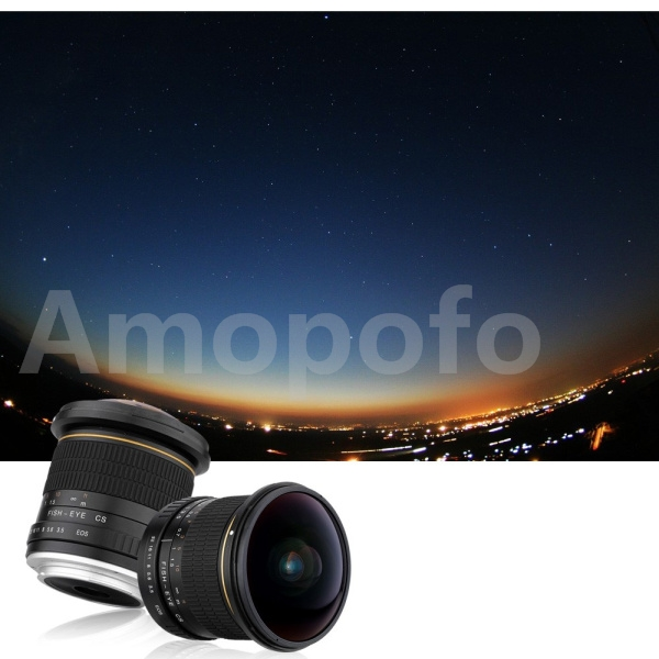 Amopofo, objectif Fisheye grand Angle circulaire asphérique 8mm F/3.5 pour appareils photo Nikon