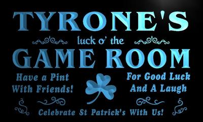 x0244-tm Tyrones Irish Pub Game Room Custom Personalized Name Neon Sign Wholesale Dropshipping On/Off Switch 7 Colors DHL
