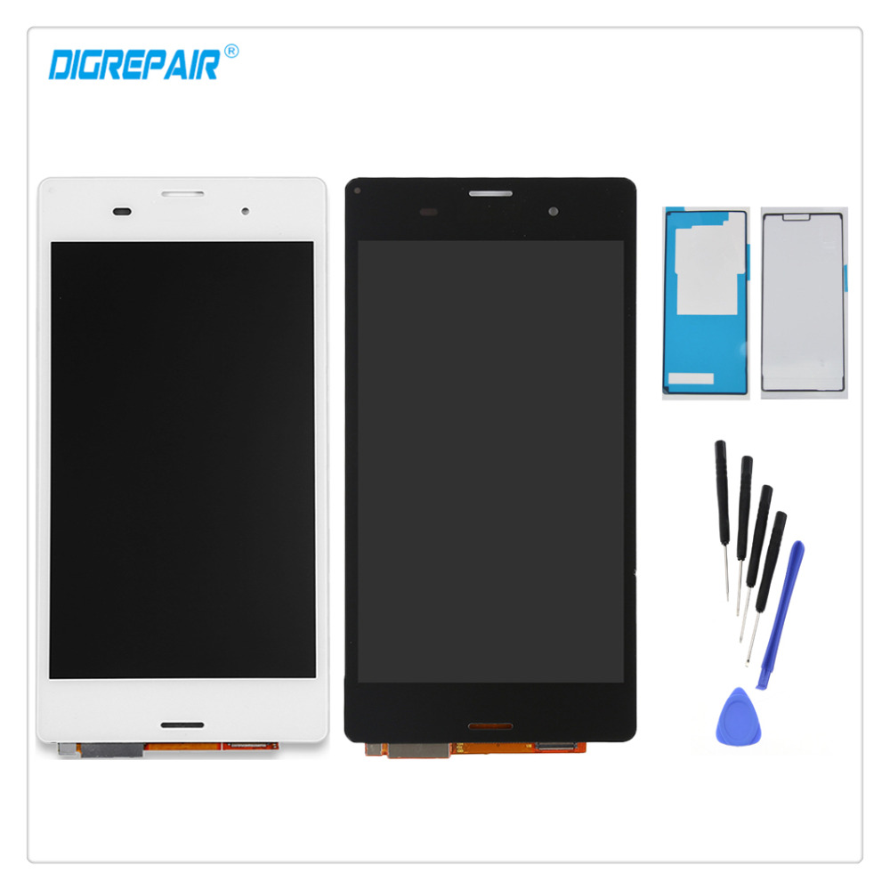 5 0 Black White For Sony Xperia Z3 D6603 D6643 D6653 D6616 L55T LCD Display Digitizer