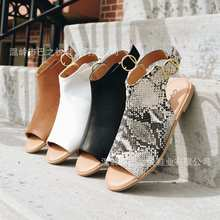 Элегантные римские сандалии гладиаторы на плоской подошве; Женские босоножки с Т образным ремешком и ремешком сзади; Выразительная обувь в стиле бохо; Босоножки с пряжкой и открытым носком размера плюс