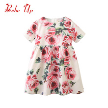 Toddler Girls Summer Cotton Princess Dress Kids Designer Floral Butterfly Party Frocks Little Girl Boutique Fashion Clothing toddler girl floral dress ladybird pattern print little girl fashion a line summer dress children spring fall princess clothing