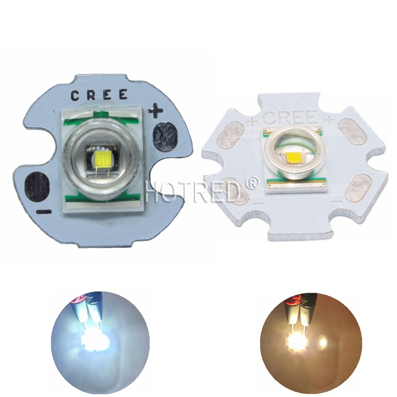 1PCS CREE XRE Q5 LED XLamp Cree Xr-e  Q5 Led Cold Neutral Warm White Yellow 3W LED Light Emitter Mounted On 16mm/20mm PCB