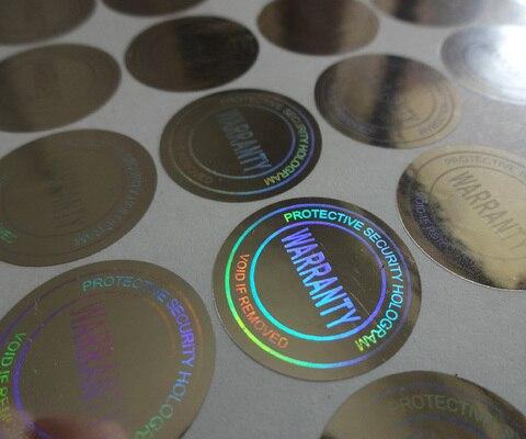 diametro de 2cm etiqueta adesiva holografica de prata voz se remover versatil pode ser usado