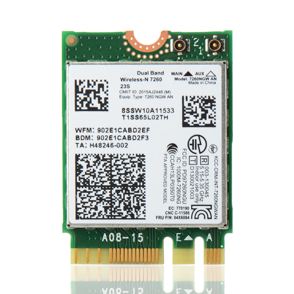 Dual Band For Intel Wireless AC 7260 WiFi+BT 4.0 CARD For Lenovo Laptop T440 T440S Network Cards