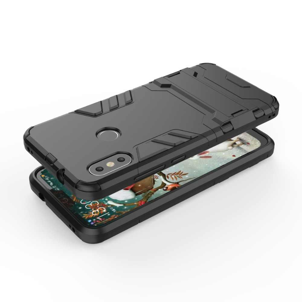 Xiaomi Redmi 5 プラス耐衝撃ハード電話ケース xiaomi Redmi 6A Redmi 6 プロ 16 ギガバイト 32 ギガバイトギガバイト 64 シリコンコンボアーマーケースカバー Fundas>