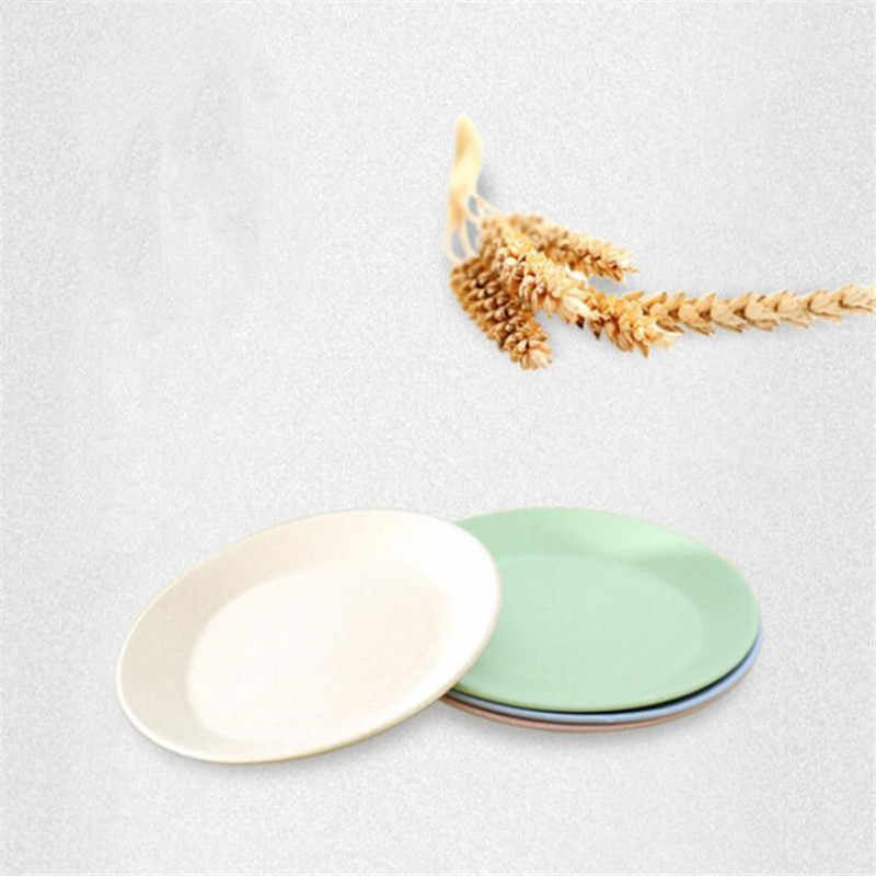 CTREE 4 шт./компл. креативная чистая натуральная Пшеница емкость для трубочек блюдо многофункциональная пластиковая еда десертная тарелка подставка для кухни лоток C219