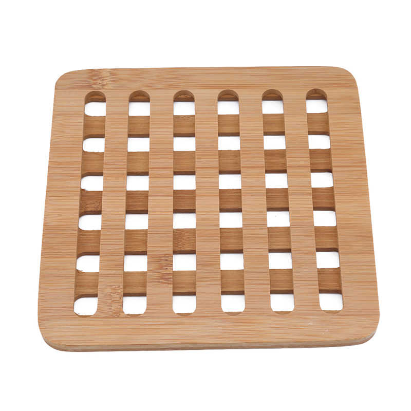 Бамбуковая рамка термостойкие колодки обеденный кухонный стол место подставки украшения домашнего стола
