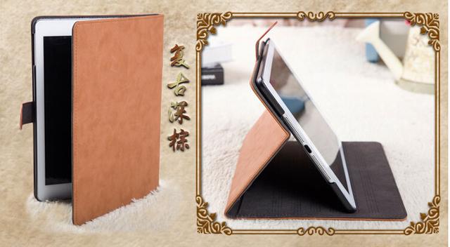 Retro leahter case for apple ipad mini 2 mini3