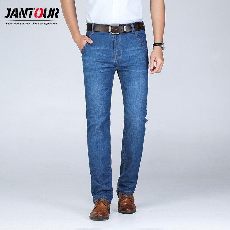 jantour 2019 new Cotton Straight Classic   Jeans   Men Spring summer Denim Pants Male Overalls Designer   Jean   High Quality Size 28-46