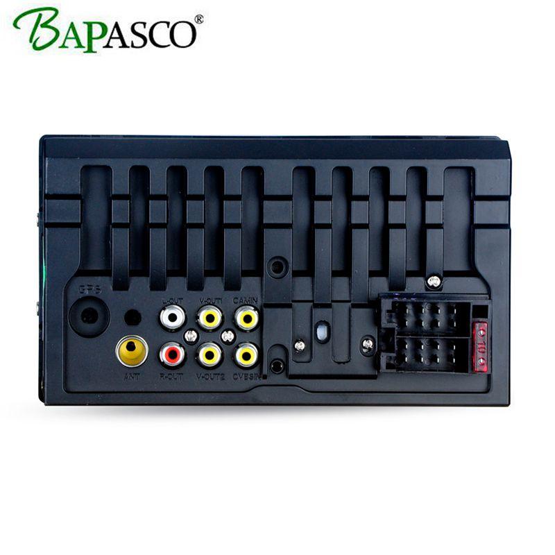 BAPASCO 7018 плюс 2 Din автомобильное радио 7-дюймовый универсальный автомобильный мультимедийный плеер HD Bluetooth MP5 Media Player TF FM
