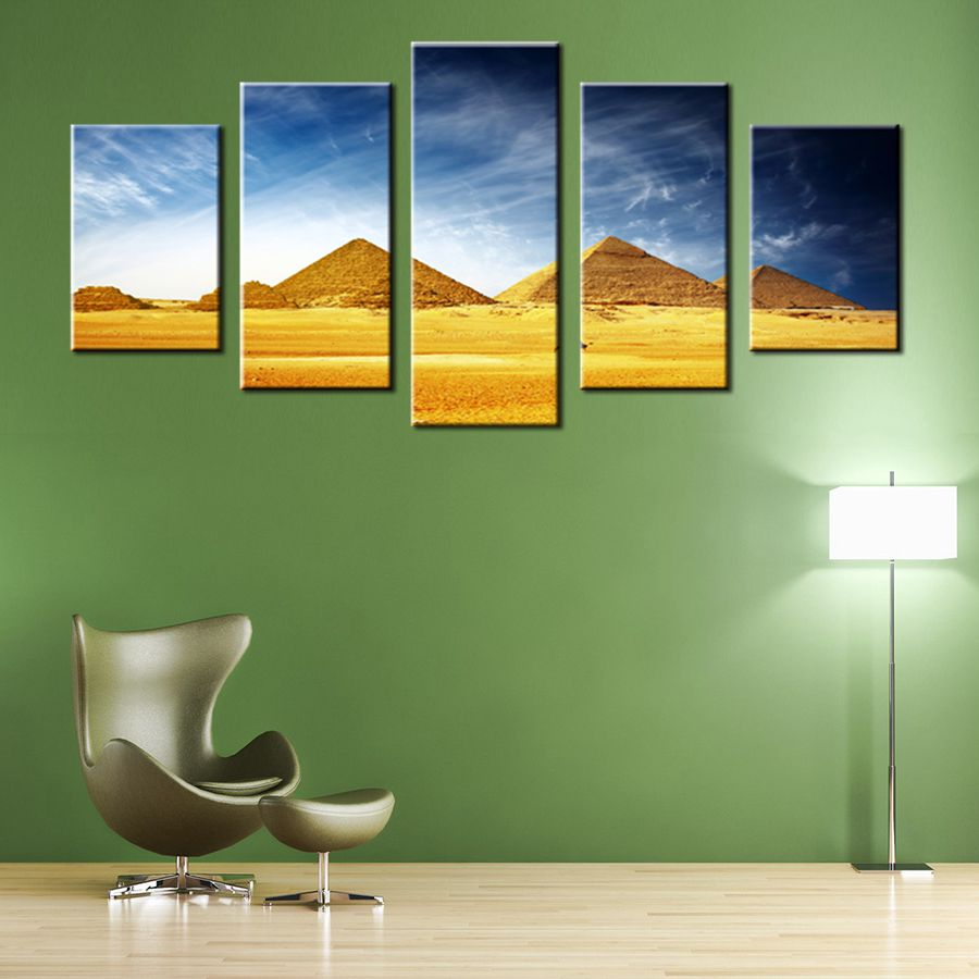 Egyptian Pyramids HD Print Canvas Painting for Living Room Wall Art Retro Pictures Artwork Wall Vintage Home Decor Drop ship in Painting Calligraphy from Home Garden