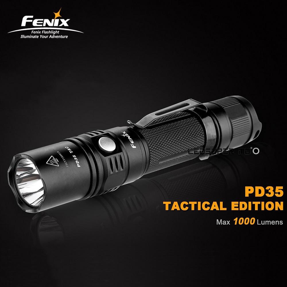 Best продажи 2015 FENIX PD35 TAC Edition 1000 люмен светодиодный Охота фонарик винтовка огни с 2 года гарантии