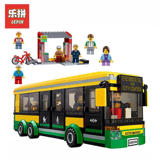 Online Shop Lepin 02078 377pcs Genuine City Series Bus Station Model