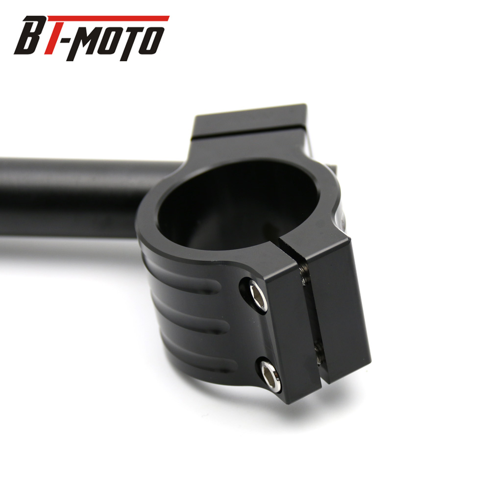 lowest price Universal Racing Adjustable CNC 31 32 33 35 36 37 39 41 43 50 51 MM Clip On Ons Fork Handlebars Handle Bar Cafe Racer Motorcycle