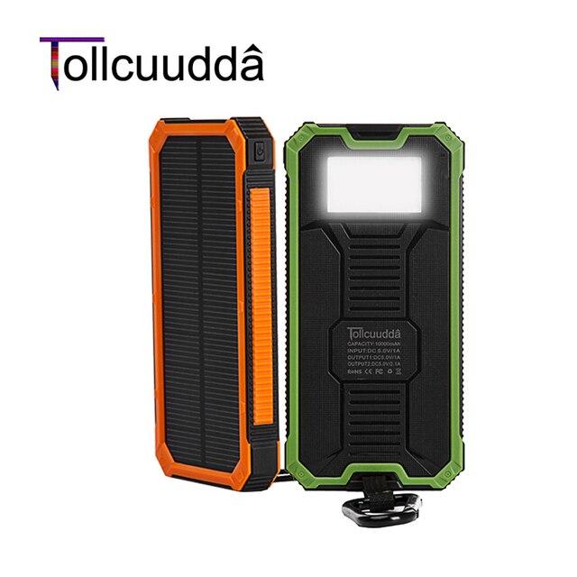 Tollcuudda Солнечный Poverbank Телефон Для Xiaomi Iphone Power Bank Зарядное устройство Портативный Мобильный Pover Bank Mi Powerbank 10000 мАч