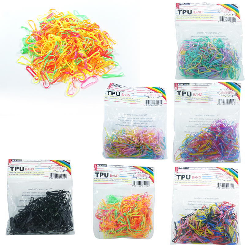 New 300pcs/lot Korean hot Elastic Hair Ring Rubber Ponytail Holder Disposable Hair Band/Rope/Ties for Girls Hair Accessories m mism 2pcs new rhinestone bead hair elastic band hair accessories rubber tie gum ponytail holder scrunchy for women girls