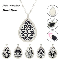 Panpan 316LStainless Steel 20 24 30 32 Inches 2mm Width Locket Chains Hanging Mini 7 5mm