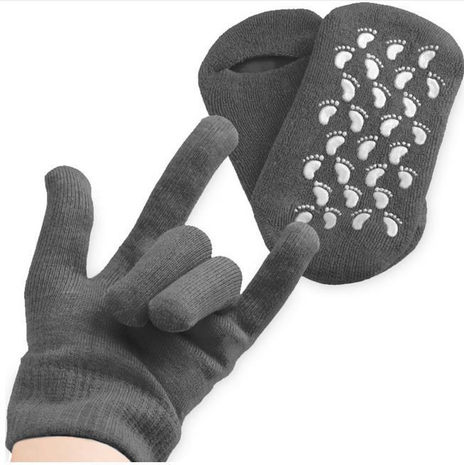 Reusable SPA Gel Sock/gloves Moisturizing Whitening Exfoliating Velvet Smooth Beauty Hand Foot Care