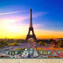Paris Torre Eiffel Paisagem cênica cenário Computador impresso contexto da Fotografia Fundos pano de Vinil de Alta qualidade